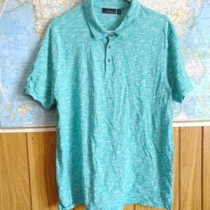Marc Anthony Slim Fit Turquoise Blue Polo, XXL